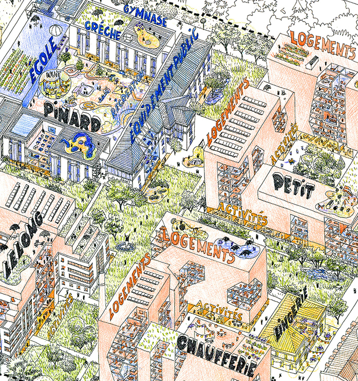 Projet Saint-Vincent-de-Paul, Paris, croquis de Diane Berg